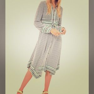 NWT Anthropologie Midi Pattern Shirt Dress. Sz 6.